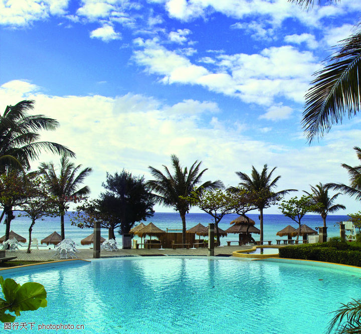 夏日风光,风景系列,度假村 巴厘岛 泳池,夏日风光0112