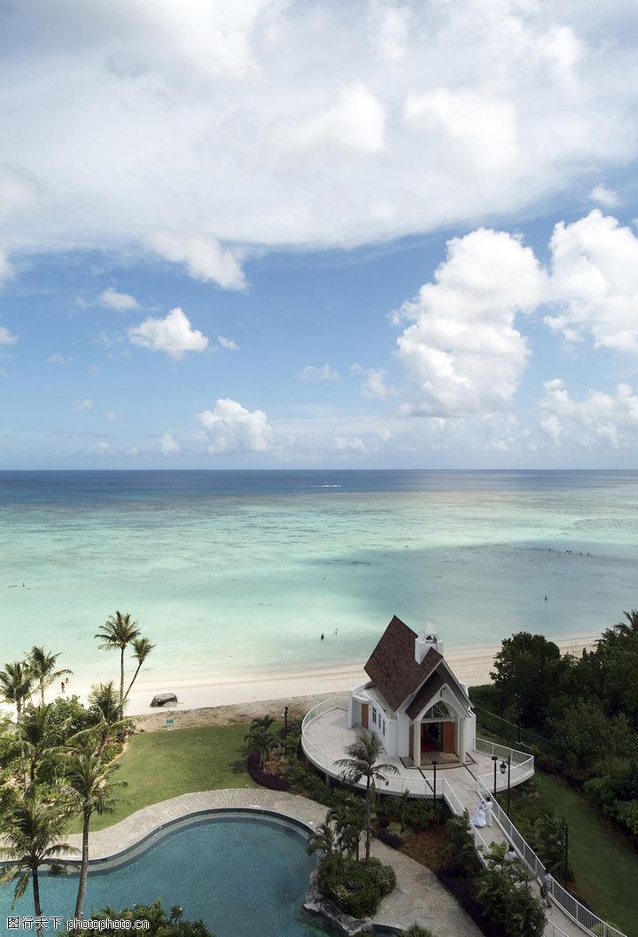热带岛屿 风景系列 海边 豪华 别墅