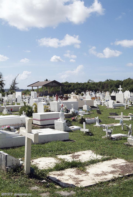热带岛屿,风景系列,坟墓 十字架 吊念,热带岛屿0023