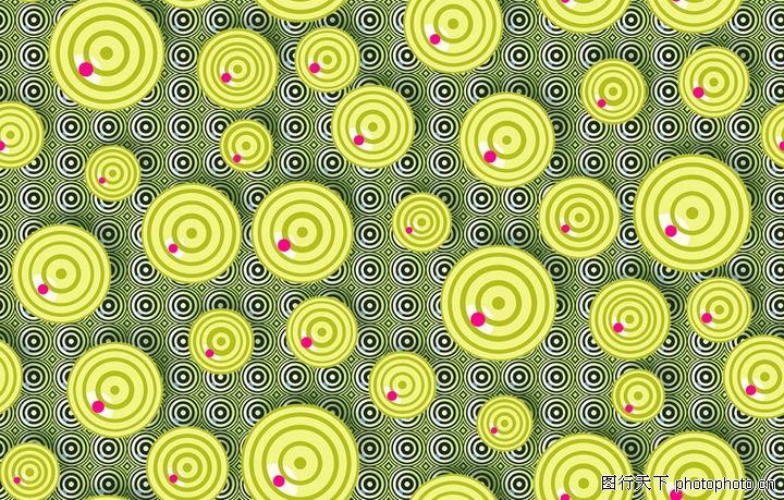 图形花纹背景,分层花纹,黄绿 圆环 红点,图形花纹背景0062