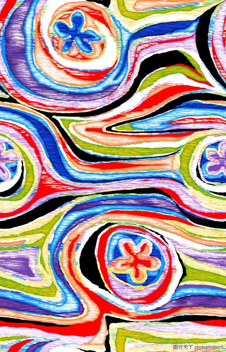 图形花纹背景,分层花纹,油墨 印象 构图,图形花纹背景0079