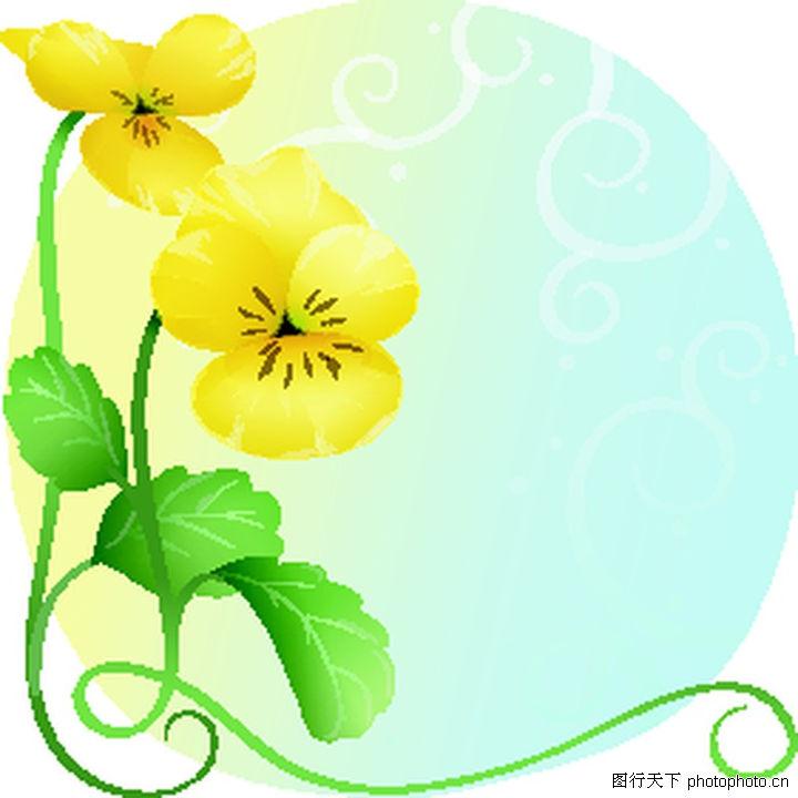 矢量花卉0069-矢量花卉图-分层花纹图库