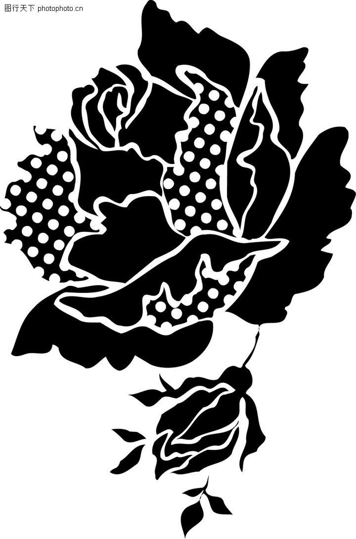 花纹边框,分层花纹,黑玫瑰 绽放 妖媚,花纹边框0034
