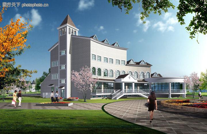 专家园别墅,国内建筑设计案例,环境 四周 行人,专家园别墅0003