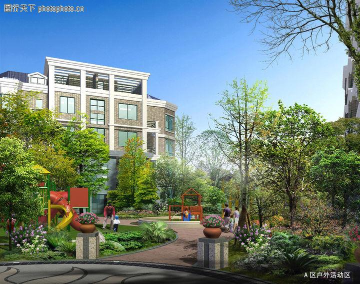 博雅新城,国内建筑设计案例,绿色 季节 风景,博雅新城0002