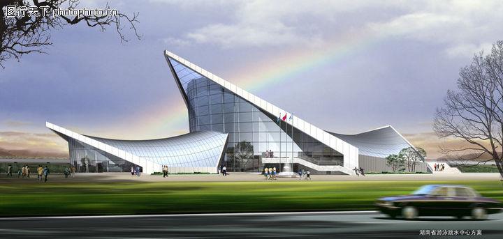 湖南省游泳跳水中心,国内建筑设计案例,湖南省游泳跳水中心0001