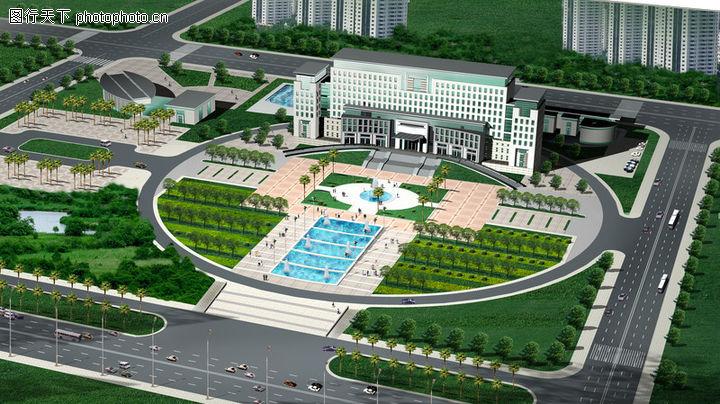 鸟瞰效果图,国内建筑设计案例,工程 规划 全景,鸟瞰效果图0009