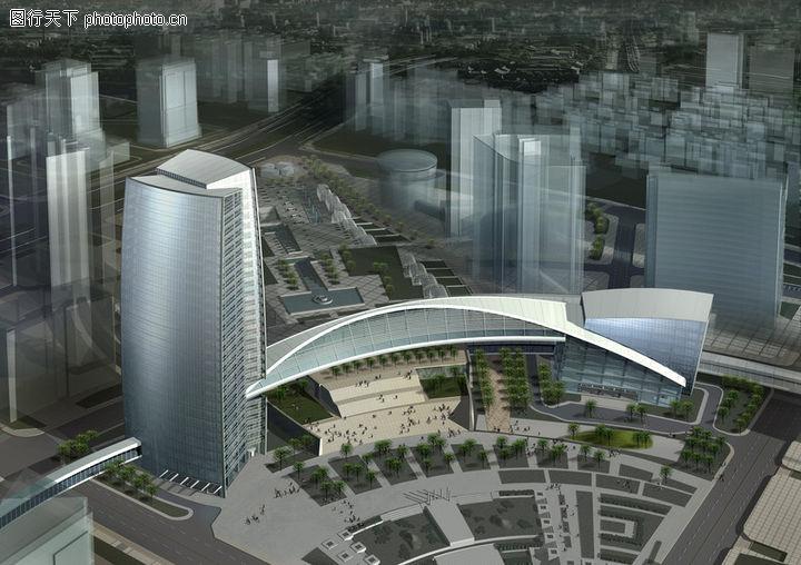 鸟瞰效果图,国内建筑设计案例,鸟瞰效果图0012
