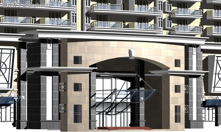 鸿运星城,国内建筑设计案例,风格 外观 大门,鸿运星城0001