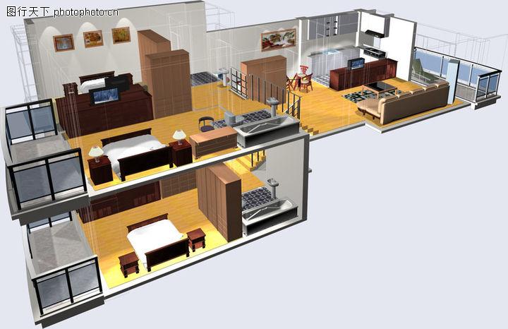 鸿运星城,国内建筑设计案例,阳台 客厅 房间,鸿运星城0007