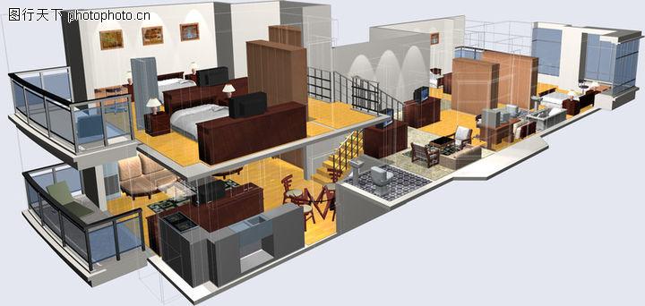 鸿运星城,国内建筑设计案例,豪宅 模型 家具,鸿运星城0008
