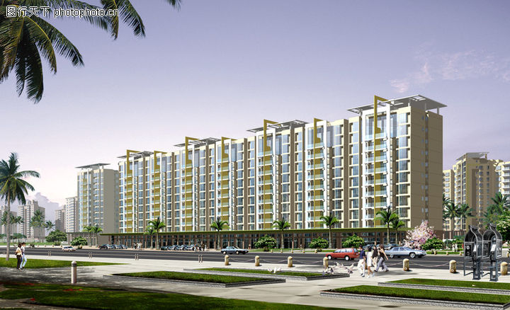 龙城小区,国内建筑设计案例,环境 楼盘 建筑群,龙城小区0001