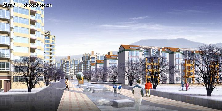 龙珠花园,国内建筑设计案例,路面 步行街 龙珠花园,龙珠花园0003