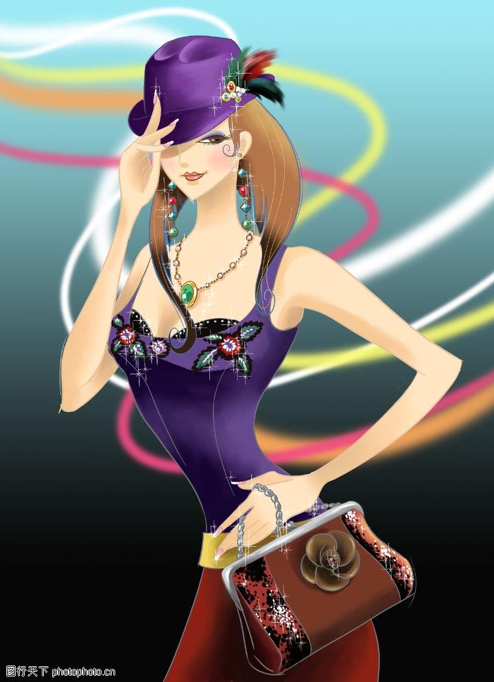 时尚女人,人物模板,钻石 闪烁 文胸 媚眼 张扬,时尚女人0011