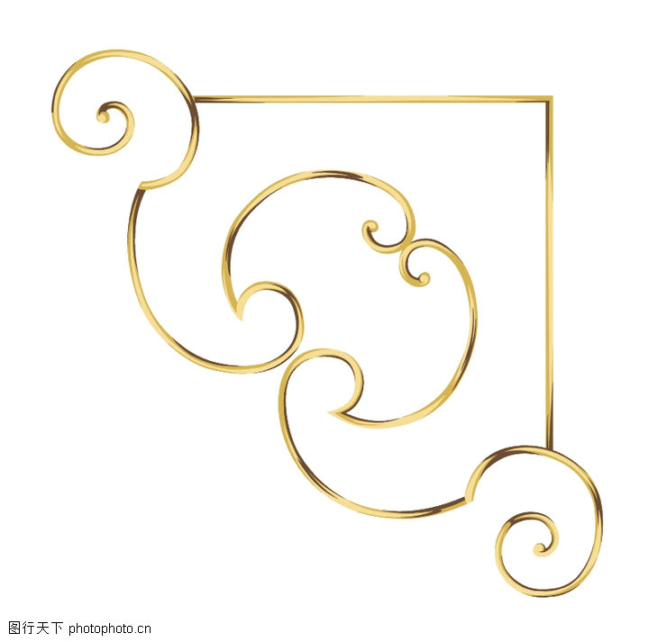饰角素材,纹理边框,边角 简单 设计,饰角素材0047
