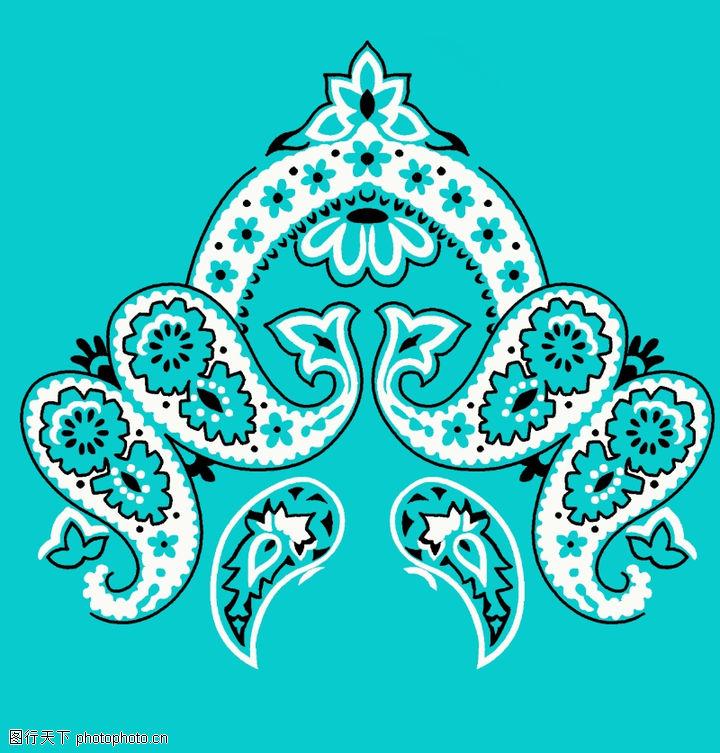 饰角素材,纹理边框,淡蓝 饰角 样式,饰角素材0052