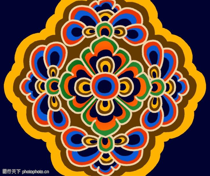 饰角素材,纹理边框,环绕 中心 花眼,饰角素材0053
