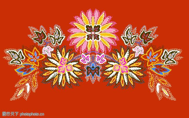 饰角素材,纹理边框,盛开 花色 斑斓,饰角素材0062