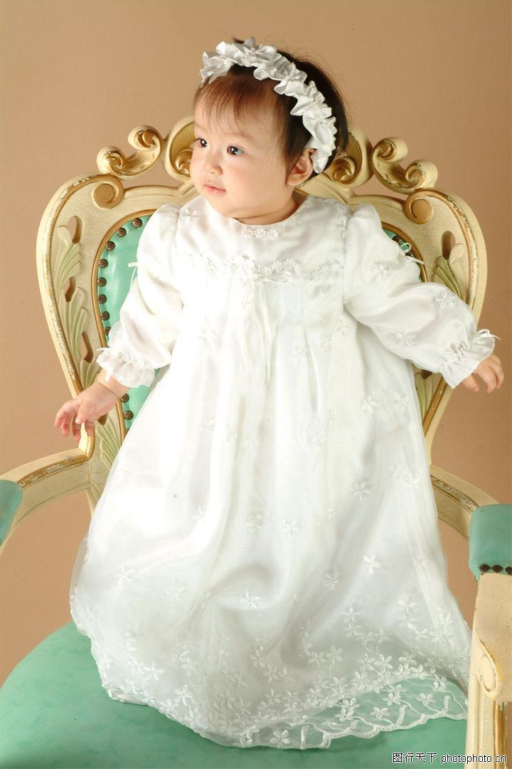 可爱的宝宝,亲情,小公主 站立宝座 公主服,可爱的宝宝0040