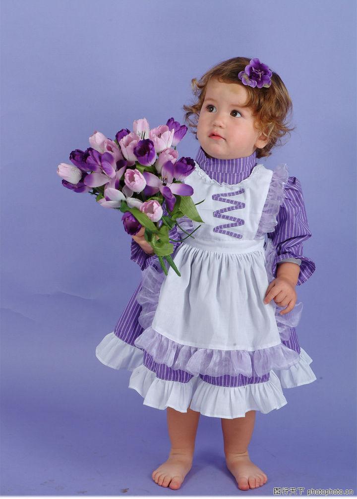 可爱小孩素描 小公主