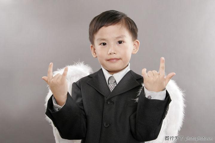 天使儿童,亲情,西服 少年 手势,天使儿童0012