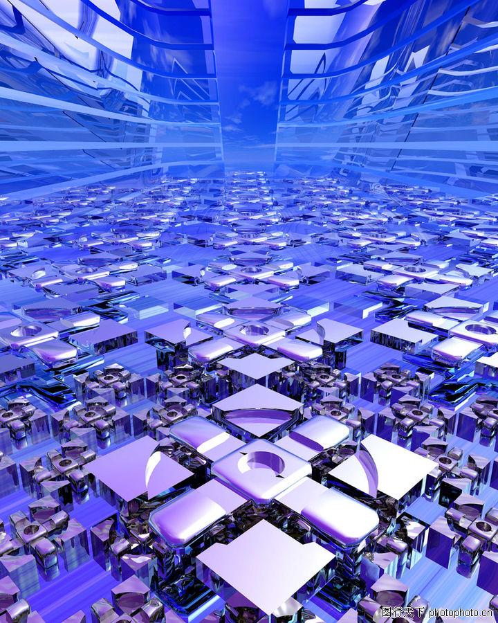 工业 光影 商业空间 楼房建筑效果图 高楼大厦 高科技区