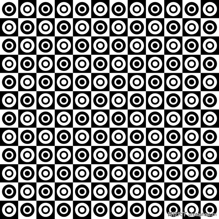 幾何圖形,時尚底紋,黑白 圓圈 花紋,幾何圖形0097