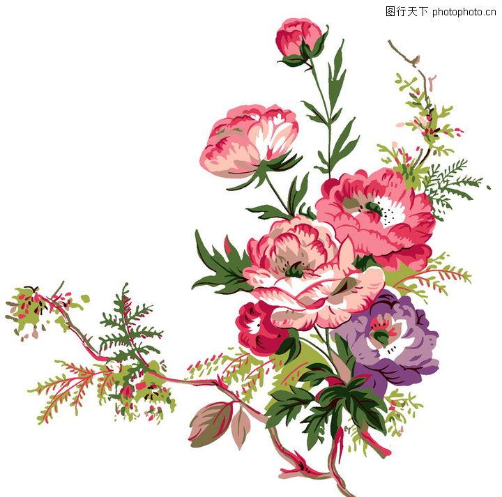 花纹,精品花纹边框模板,刺绣 女工 鲜花,典雅花纹0098