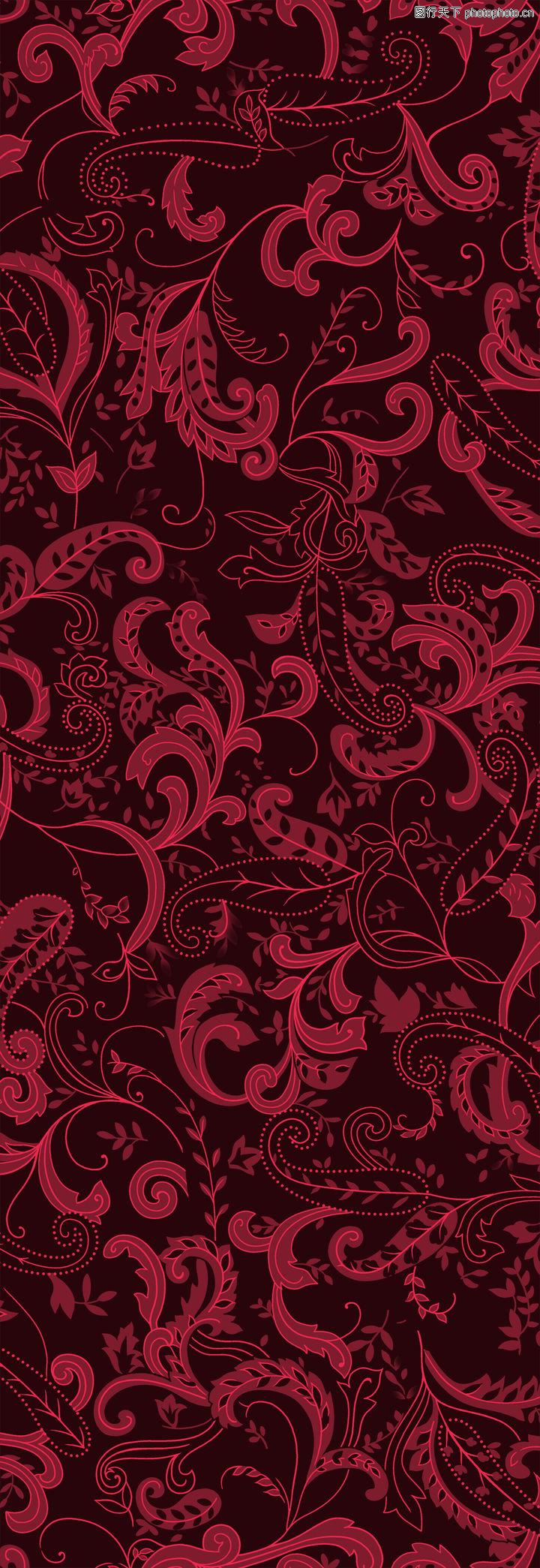 彩绘花纹,精品花纹边框模板,深红色调,彩绘花纹0155