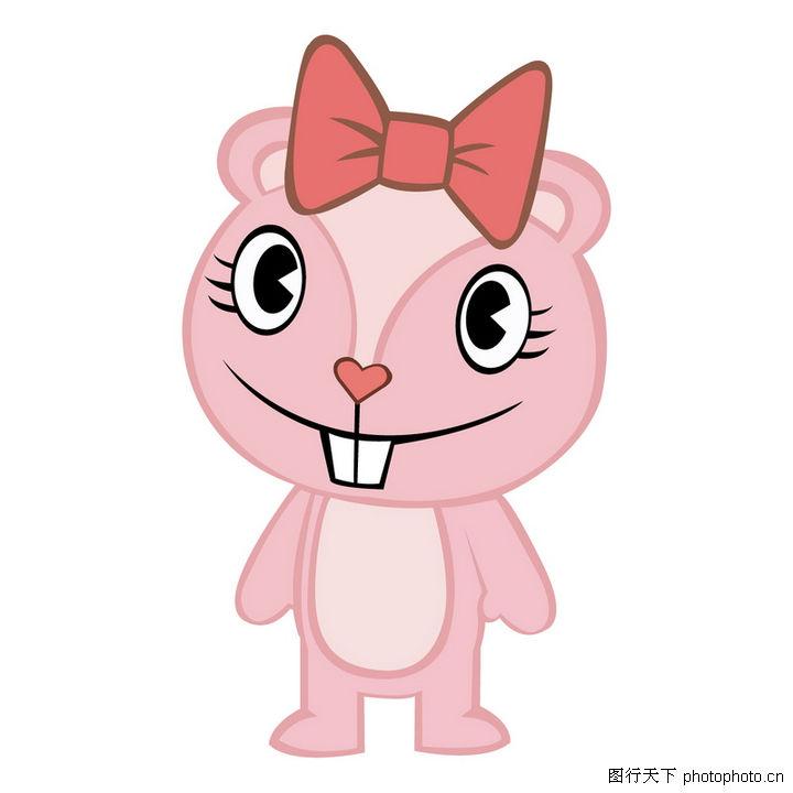 可爱小动物,全球电视卡通形象矢量logo0066