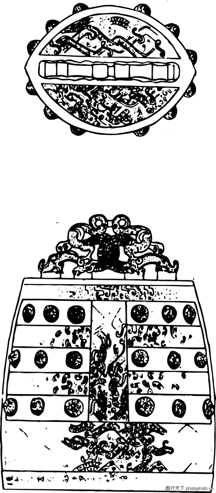 首页 矢量图库 中国古图案 春秋战国 >>春秋战国1102.