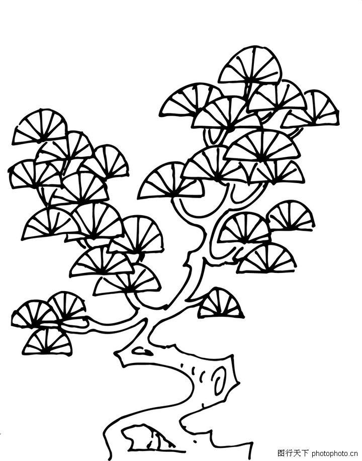 松树松鼠简笔画