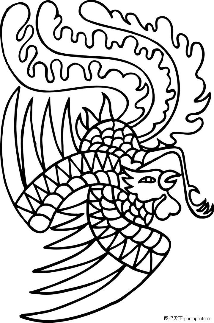 失量古典图案0104 失量古典图案图 中国古典画图库 展翅 飞翔 扑翼