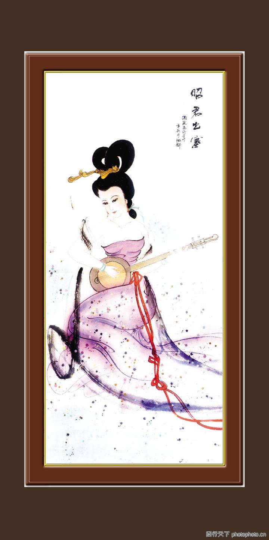梅兰竹菊 中国古典画 古代 美女 姿色