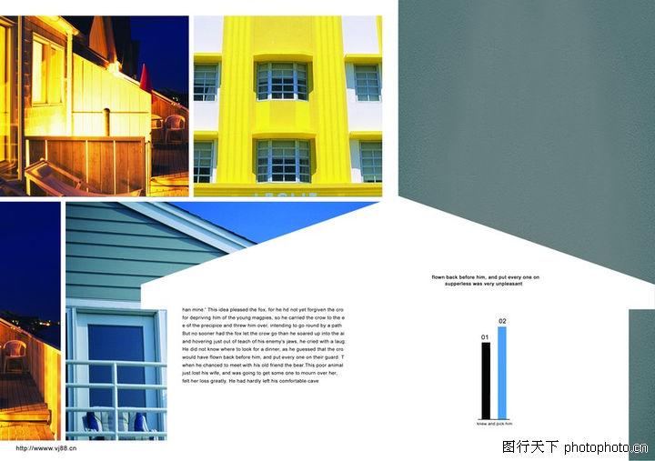 建筑风景,版式设计,屋角 装璜 设计,建筑风景0004