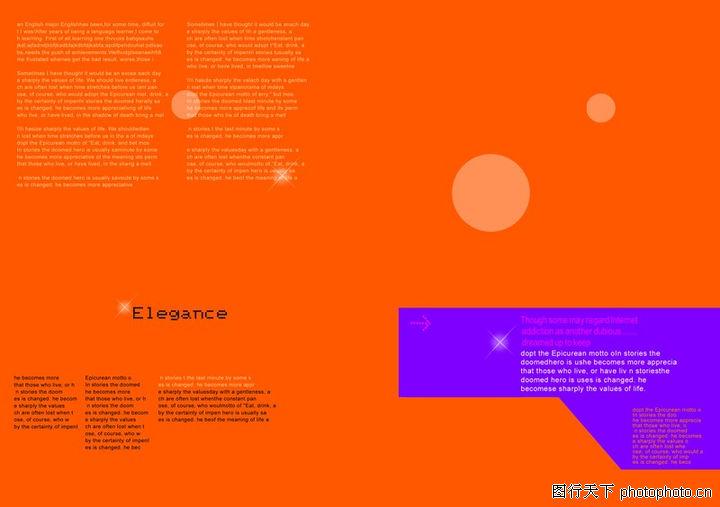 插画,版式设计,橙红底色,插画0020