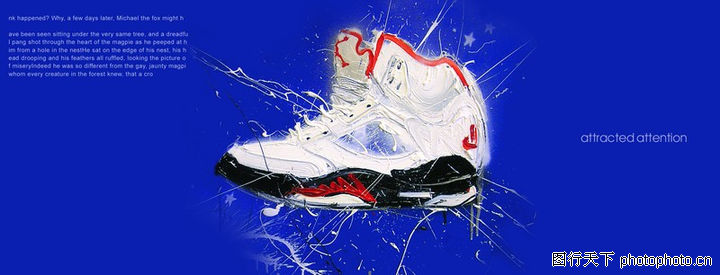 插画,版式设计,篮球鞋 蓝色背景 五角星,插画0040图片