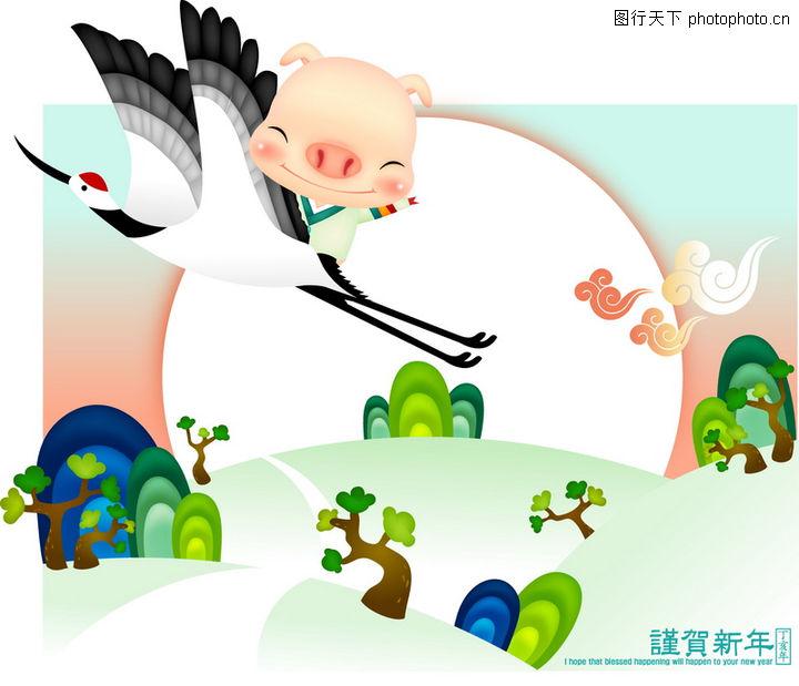 素材编号:015a2508 / 猪年矢量图库; 猪年矢量图库; 猪年0028