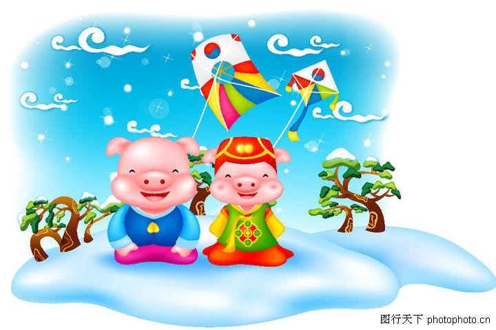 猪年新春图片素材