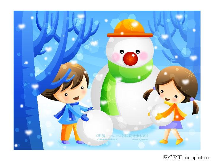 关于冬天雪人的简笔画 冬天雪人简笔画 冬天来了雪人简笔画