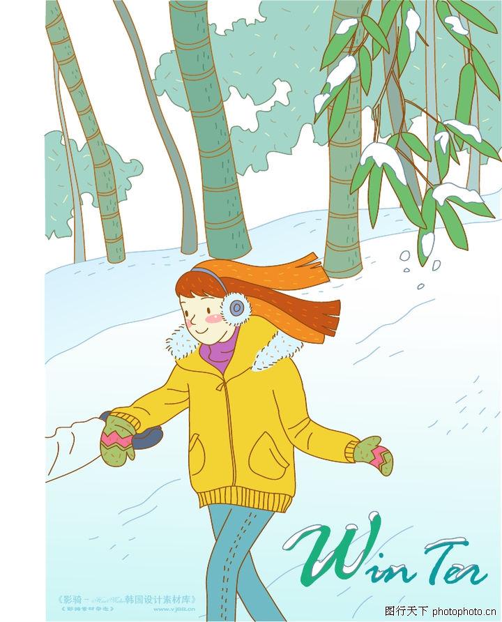 小女孩 人物/冬季小女孩0002
