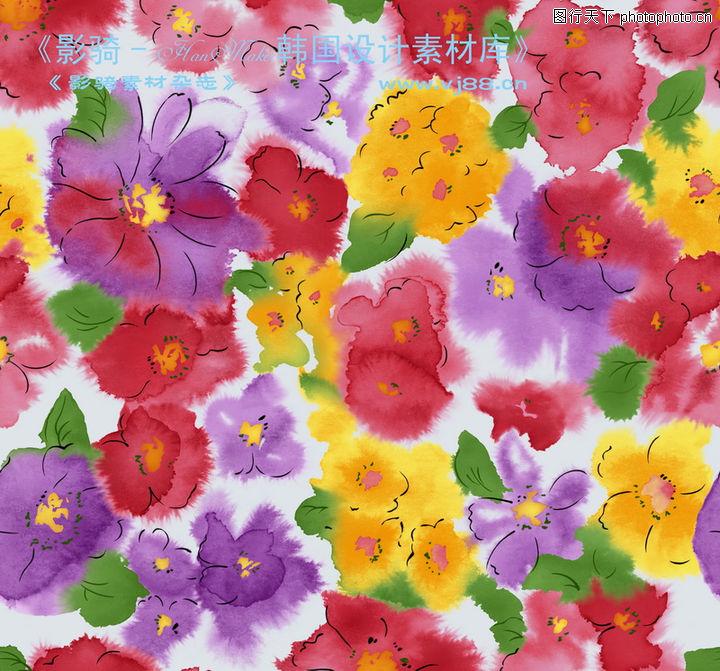 单朵艳丽配色花纹,人物,单朵艳丽配色花纹0022