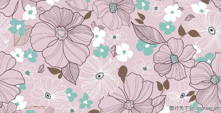单朵艳丽配色花纹,人物,清雅的花朵,单朵艳丽配色花纹0036