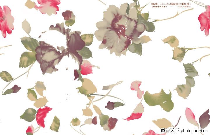 单朵艳丽配色花纹,人物,花样 图案 碎片,单朵艳丽配色花纹0041