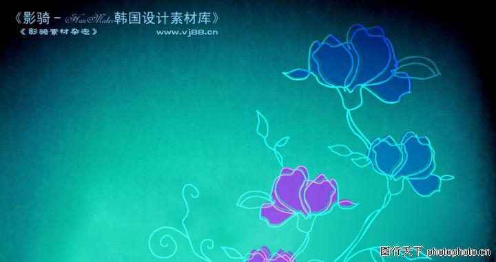单朵艳丽配色花纹,人物,紫玫瑰 描绘 简易勾勒 ,单朵艳丽配色花纹0053