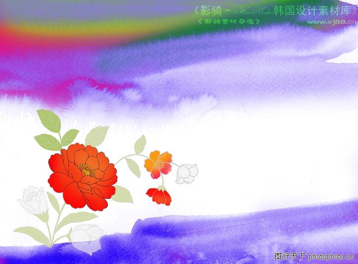 背景 花纹/水彩背景及其花纹0092