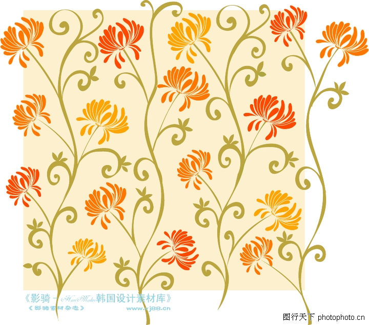 矢量背景底纹,人物,树叶 花朵 树枝,矢量背景底纹0063
