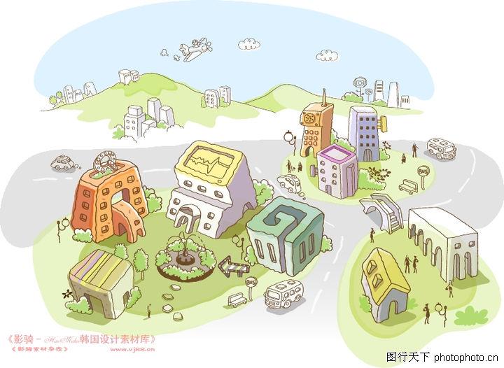 城市房子简笔画步骤