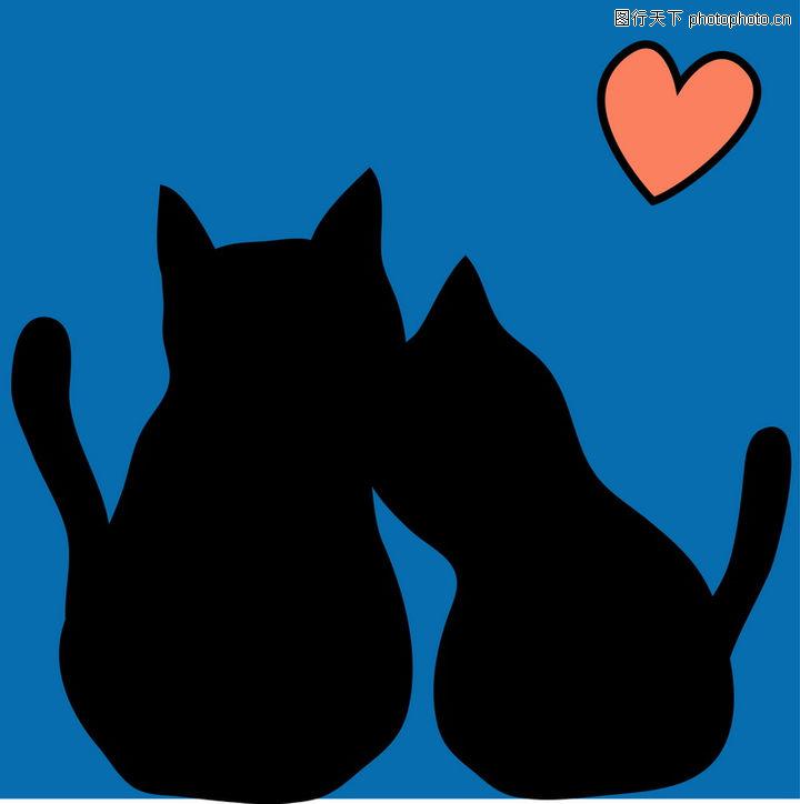 卡通黑猫背影_黑猫图片_黑猫男友_小黑猫 - 黑马素材 .