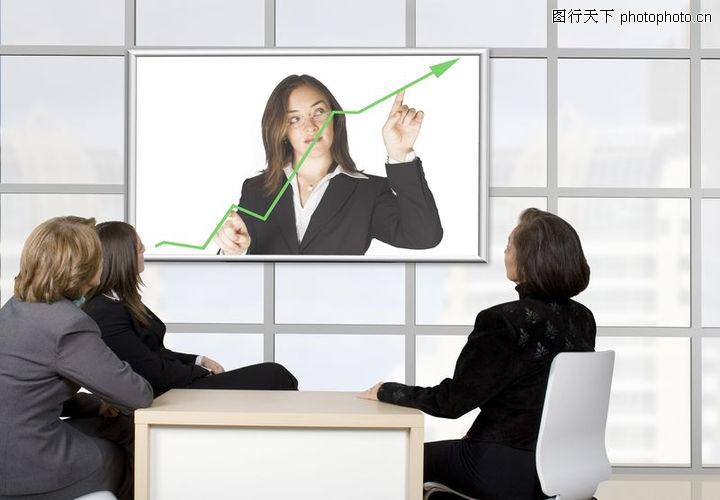 统计图形,金融,绿色箭头 女精英们,统计图形0114